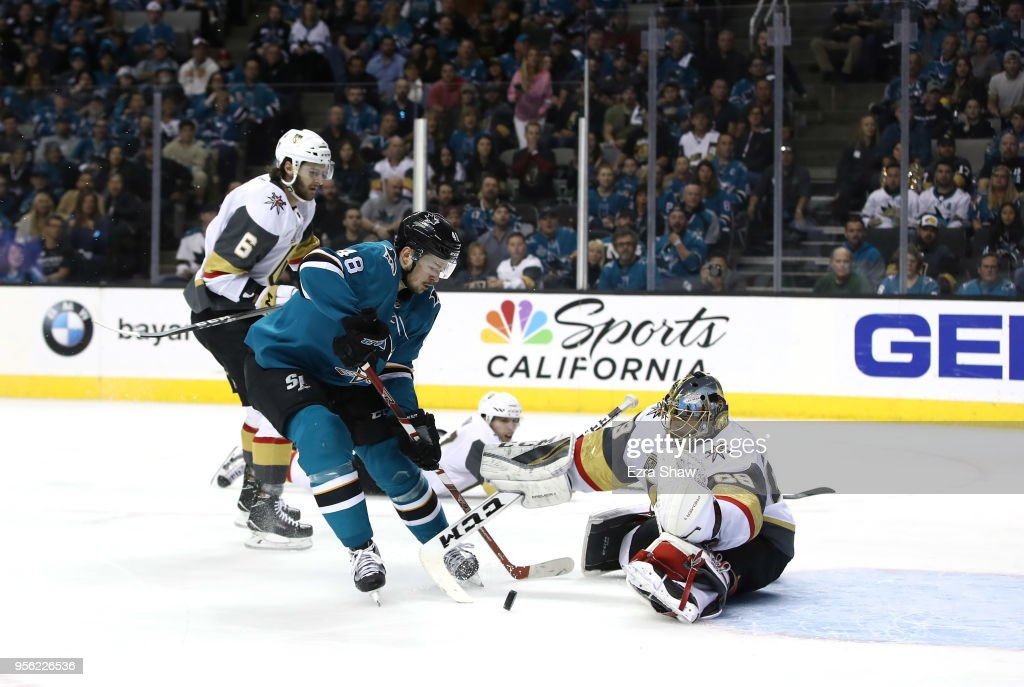 Vegas Golden Knights v San Jose Sharks - Game Six : News Photo