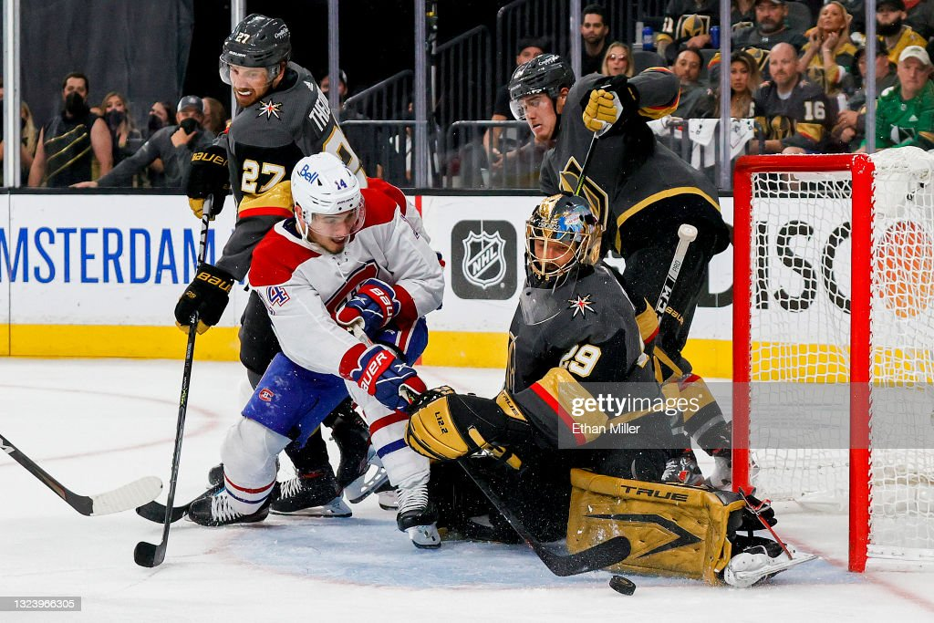 Montreal Canadiens v Vegas Golden Knights - Game Two : News Photo