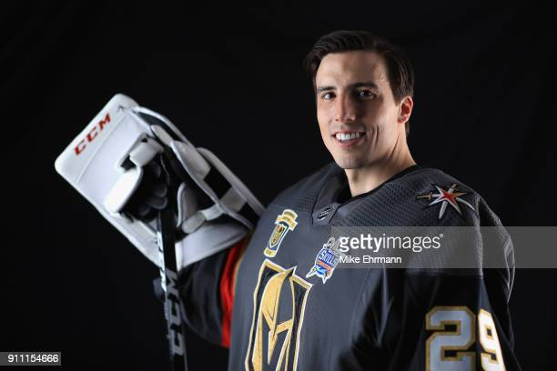 MarcAndre Fleury of the Vegas Golden Knights poses for a portrait during the 2018 NHL AllStar at Amalie Arena on January 27 2018 in Tampa Florida