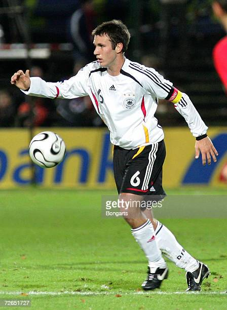 Marc-Andre Kruska of Germany in action during the Men's U20 international friendly match between Germany and Austria at the Guenther-Volker Stadium...