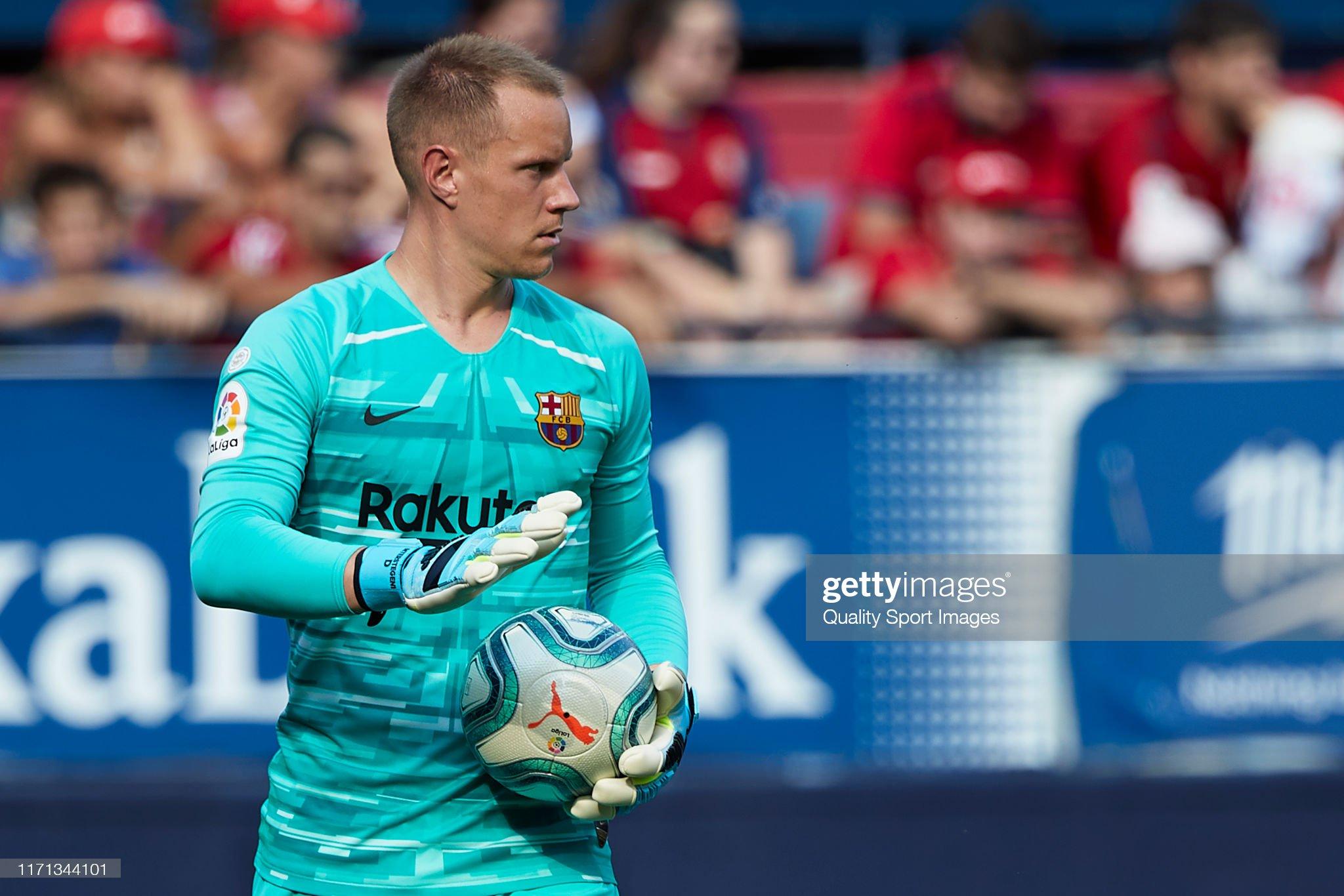 صور مباراة : أوساسونا - برشلونة 2-2 ( 31-08-2019 )  Marcandre-ter-stegen-of-fc-barcelona-looks-on-during-the-liga-match-picture-id1171344101?s=2048x2048