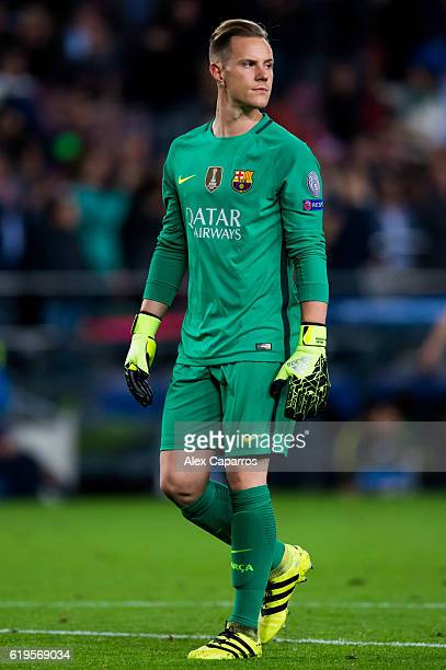 MarcAndre Ter Stegen of FC Barcelona looks on during the UEFA Champions League group C match between FC Barcelona and Manchester City FC at Camp Nou...