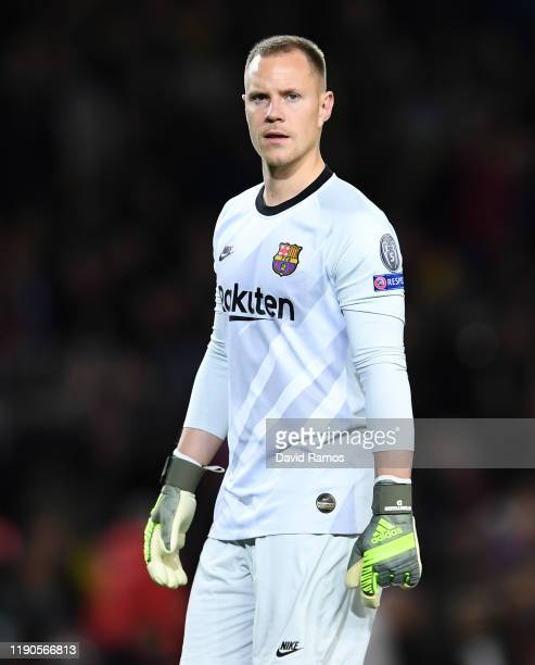 Marc-Andre ter Stegen of FC Barcelonaduring the UEFA Champions League group F match between FC Barcelona and Borussia Dortmund at Camp Nou on...