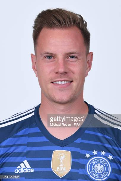 MarcAndre Ter Stegen of Germany pose for a photo during the official FIFA World Cup 2018 portrait session on June 13 2018 in Moscow Russia