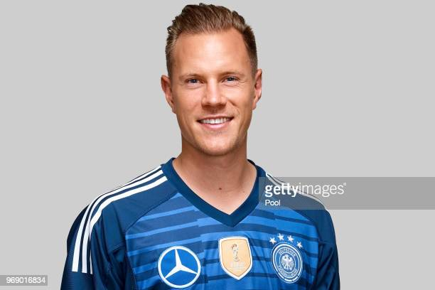 MarcAndre ter Stegen poses for a photo during a portrait session ahead of the 2018 FIFA World Cup Russia at Eppan training ground on June 5 2018 in...