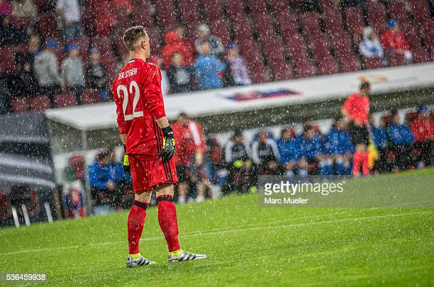 MarcAndre terStegen goalkeeper of Germany during the international friendly match between Germany and Slovakia at WWKArena on May 29 2016 in Augsburg...