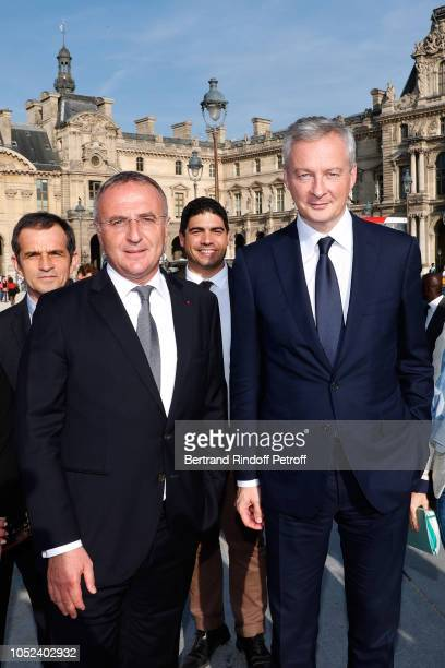 MarcAntoine Jamet and Minister of Economy and Finance Bruno Le Maire attend the Inauguration of the Cosmetic 360 International exhibition of...