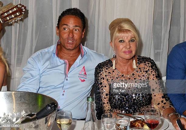Marcantonio Rota and Ivana Trump attend the Massimo Gargia Birthday Party at the VIP Room Saint Tropez on August 18 2014 in Saint Tropez France