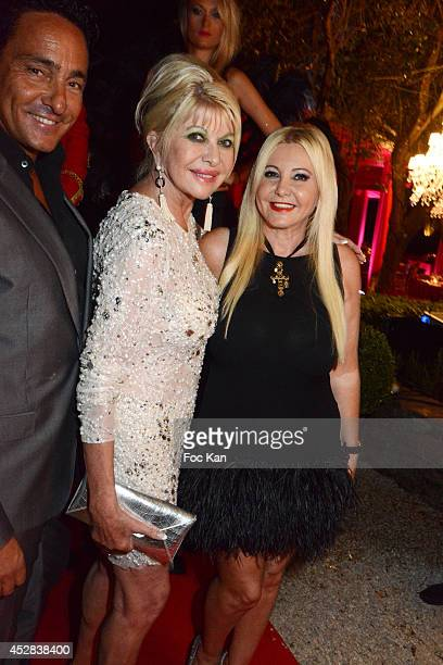 Marcantonio Rota Ivana Trump and Monika Bacardi attend the Monika Bacardi Summer Party 2014 St Tropez at Les Moulins de Ramatuelle on July 27 2014 in...