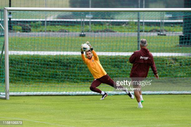 Marcao from Galatasaray is seen in action during a training session within summer camp as part of the Turkish Super Lig new season preparations in...