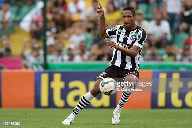 Marcao of Figueirense in action during a match between Figueirense and Vitoria as part of Campeonato Brasileiro 2014 at Orlando Scarpelli Stadium on...