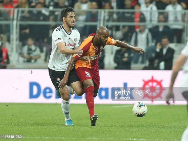 Marcao of Galatasaray Istanbul controls the ball during the Sueper Lig match between Besiktas Istanbul and Galatasaray Istanbul on October 27 2019 in...