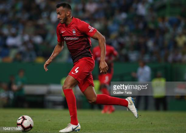 Marcao of CS Maritimo in action during the Liga NOS match between Sporting CP and CS Maritimo at Estadio Jose Alvalade on September 29 2018 in Lisbon...