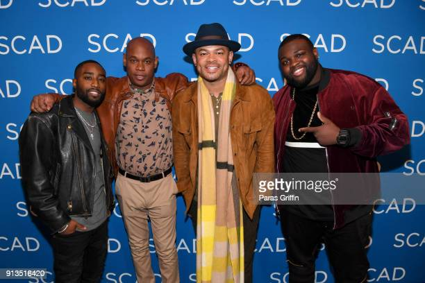 Marcc Rose Bokeem Woodbine Anthony Hemingway and Wavyy Jonez attend a screening and QA for 'Unsolved The Murders of Tupac and the Notorious BIG' on...