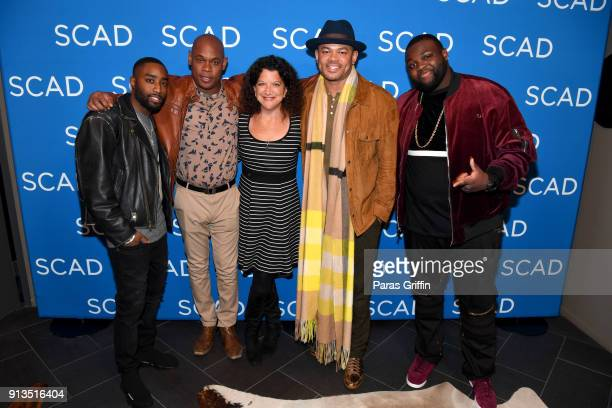 Marcc Rose Bokeem Woodbine Debra Birnbaum Anthony Hemingway and Wavyy Jonez attend a screening and QA for 'Unsolved The Murders of Tupac and the...