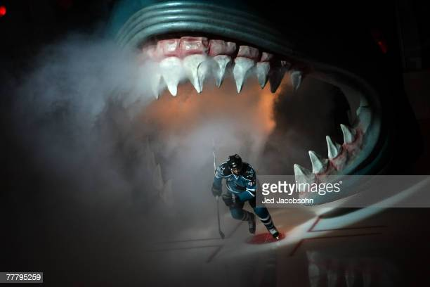 MarcEdouard Vlasic of the San Jose Sharks enters the ice against the Dallas Stars at the HP Pavillion November 7 2007 in San Jose California