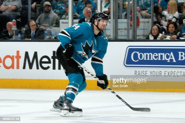 MarcEdouard Vlasic of the San Jose Sharks skates in Game Six of the Western Conference Second Round against the Vegas Golden Knights during the 2018...
