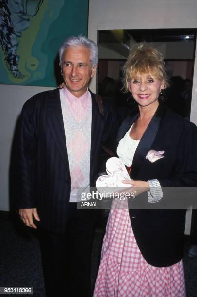 Marcel Amont et Annie Cordy à l'anniversaire d'Alice Dona en février 1988 à Paris France