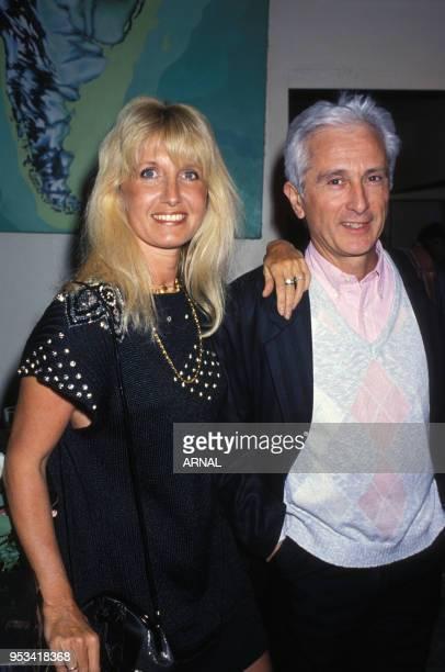 Marcel Amont et sa femme à l'anniversaire d'Alice Dona en février 1988 à Paris France