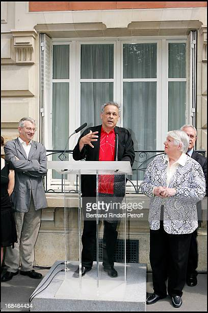 Marcel Bezonnet Francis Perrin and Francoise Seigner at Commemorative Plaque Tribute To Louis Seigner