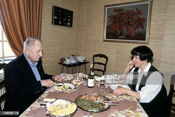 Marcel Bigeard at Home in Toul with wife Gaby in Toul France in 1994