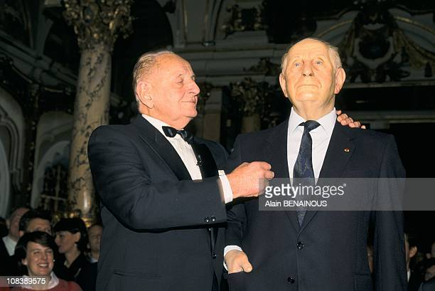 Marcel Bigeard gets his own replica at the famed grevin wax museum France in Paris France on October 25 1994