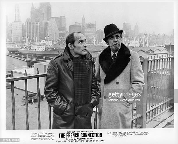 Marcel Bozzuffi And Fernando Rey in a scene from the film 'The French Connection' 1971