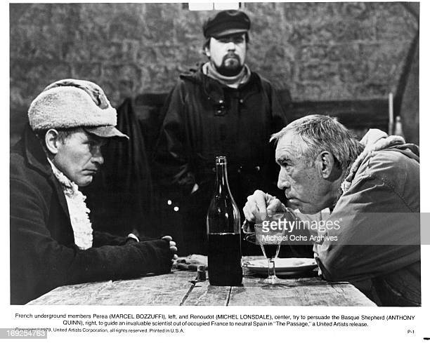 Marcel Bozzuffi tries to persuade Anthony Quinn in a scene from the film 'The Passage' 1979 Photo by MetroGoldwynMayer/Getty Images