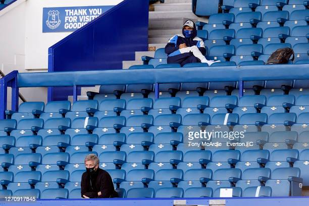 Marcel Brands and new Everton signing Allan watching the PreSeason Friendly match between Everton and Preston North End at Goodison Park on September...