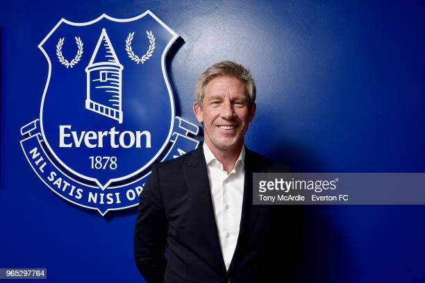 Marcel Brands the new Everton Director of Football spends his first day at USM Finch Farm on June 1, 2018 in Halewood, England.