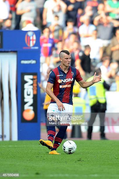 Marcel Buchel of Bologna FC in action during the Serie B match between Bologna FC and AS Varese at Stadio Renato Dall'Ara on October 18 2014 in...
