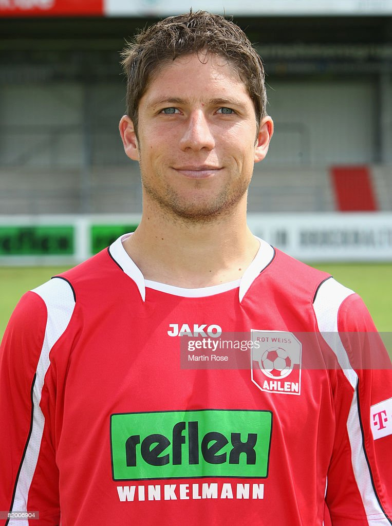 Marcel Busch poses during the Bundesliga 2nd Team Presentation of RW Ahlen at the Werse stadium on July 19, 2008 in Ahlen, Germany.