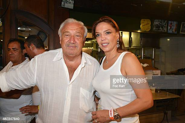 Marcel Campion and his daughter singer Singrid Campion and Patrick Mapa attend the Saint Tropez Tribute To Eddie Barclay Place Des Lices Saint Tropez...