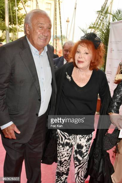 Marcel Campion and Le Grand Siecle 2018 awarded singer Regine attend 'La Femme Dans Le Siecle' Dinner on July 5 2018 in Paris France