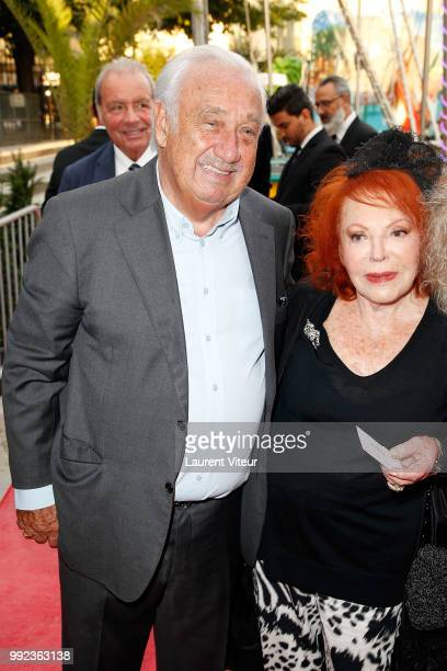 Marcel Campion and Regine attend 'La Femme dans le Siecle Waman in the Century' Dinner at Jardin des Tuileries on July 5 2018 in Paris France