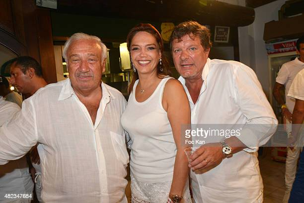 Marcel Campion his daughter Singrid Campion and Patrick Mapa attend the Saint Tropez Tribute To Eddie Barclay Place Des Lices Saint Tropez on July 29...