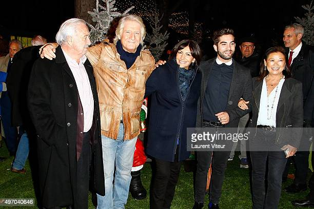 Marcel Campion Patrick Sebastien Mayor of Paris Anne Hidalgo Singer Kendji Girac and Mayor Of 8 district Jeanne d'Hauteserre attend the Opening The...