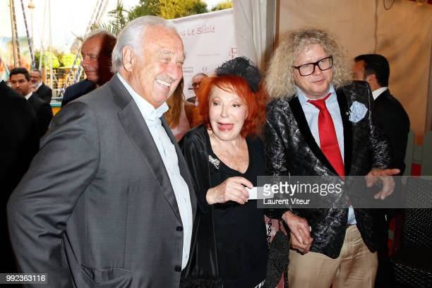 Marcel Campion Regine and PierreJean Chalencon attend 'La Femme dans le Siecle Waman in the Century' Dinner at Jardin des Tuileries on July 5 2018 in...