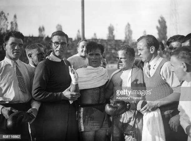 Marcel Cerdan avant son grand combat à Paris France en 1946