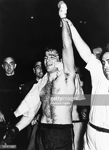 Marcel Cerdan Boxing European Champion At Welterweight On June 5Th 1939 In Milan