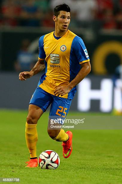 Marcel Correia of Braunschweig runs with the ball during the Second Bundesliga match between Fortuna Duesseldorf and Eintracht Braunschweig at...