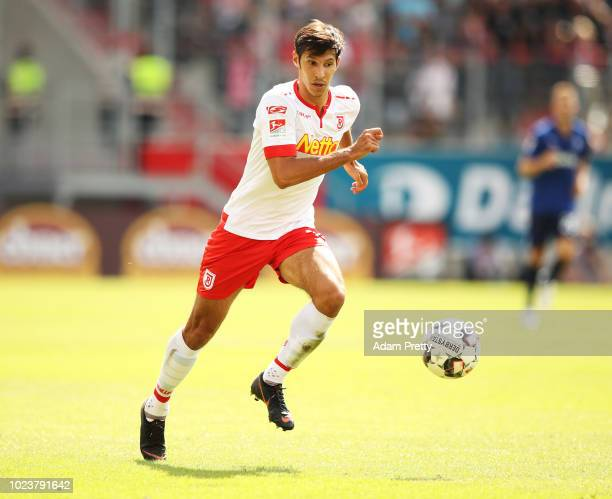 Marcel Correia of Jahn Regensburg controls the ball during the Second Bundesliga match between SSV Jahn Regensburg and Holstein Kiel at Continental...