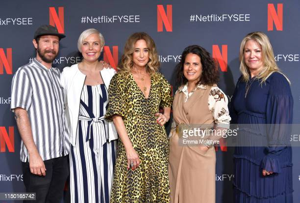 Marcel Dagenais Jennifer Rogien Allyson Fanger Beth Morgan and Tricia Sawyer attend the Netflix FYSEE Craft Day at Raleigh Studios on May 18 2019 in...