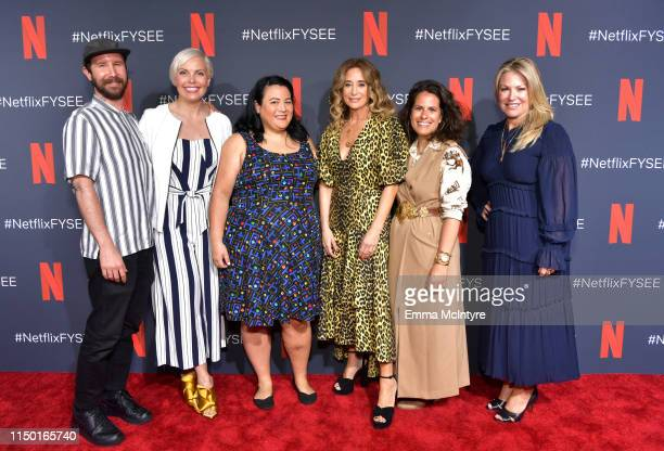 Marcel Dagenais Jennifer Rogien Jenelle Riley Allyson Fanger Beth Morgan and Tricia Sawyer attend the Netflix FYSEE Craft Day at Raleigh Studios on...