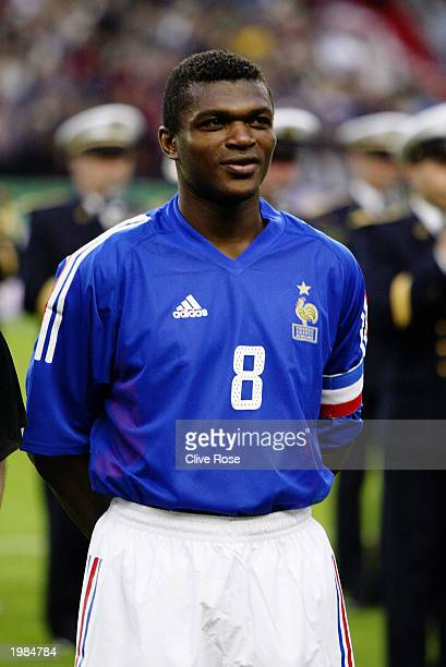 Marcel Desailly of France during the team line-up during the International friendly match between France and Egypt on April 30, 2003 at The Stade de...
