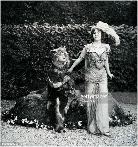 Marcel Dessones as the Beast and Dermoz as Ruby in Beauty and the Beast by Fernand Noziere From Le Theatre 1908