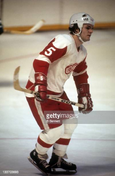 Marcel Dionne of the Detroit Red Wings skates on the ice during an NHL game circa 1974 at the Detroit Olympia in Detroit, Michigan.