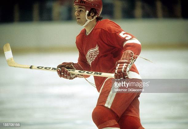 Marcel Dionne of the Detroit Red Wings skates on the ice during an NHL game in December, 1973.