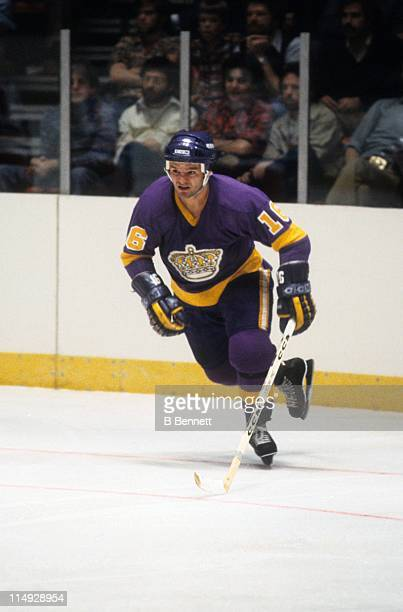 Marcel Dionne of the Los Angeles Kings skates on the ice during an NHL game in November, 1979.