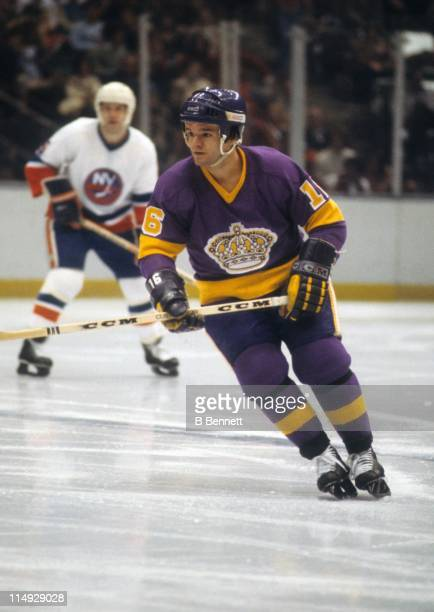 Marcel Dionne of the Los Angeles Kings skates on the ice during an NHL game against the New York Islanders on January 9, 1979 at the Nassau Coliseum...